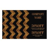 elegant  chevron geometric pattern leopard print flyer