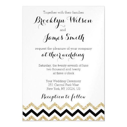 elegant chevron magnet wedding invitations zazzle With photo magnet wedding invitations