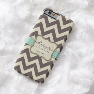 Elegant Chevron Modern Brown, Green and Beige Barely There iPhone 6 Case