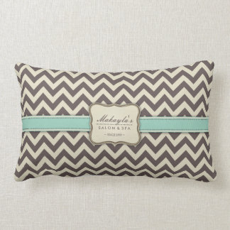 Elegant Chevron Modern Brown, Green and Beige Lumbar Pillow