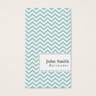 Elegant Chevron Stripes Bartender Business Card
