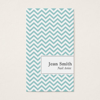 Elegant Chevron Stripes Nail Art Business Card