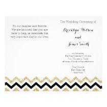 Elegant Chevron Wedding Programs Flyer