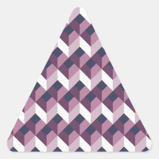 Elegant chevron zigzag pattern triangle sticker