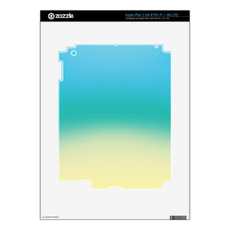 Elegant & Chic Baby Blue Teal Gold Ombre Watercolo iPad 3 Skins