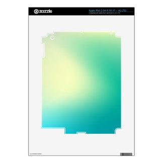 Elegant & Chic Beautiful Blue and Teal Watercolor iPad 3 Skins