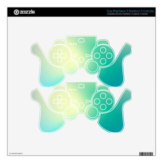 Elegant & Chic Beautiful Blue and Teal Watercolor PS3 Controller Decals