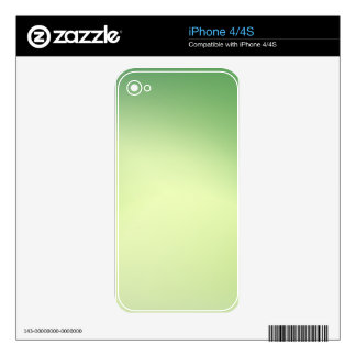 Elegant & Chic Beautiful Green and Gold Watercolor Skin For iPhone 4S