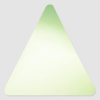 Elegant & Chic Beautiful Green and Gold Watercolor Triangle Sticker