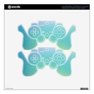 Elegant & Chic Beautiful Purple Teal Gold Watercol PS3 Controller Decals