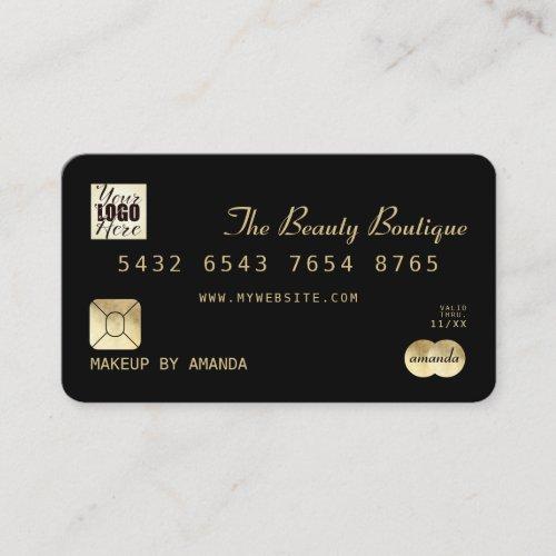 Elegant Chic Black Gold Luxury Credit Card Logo