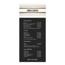 Elegant Chic Black White Price List Service Menu