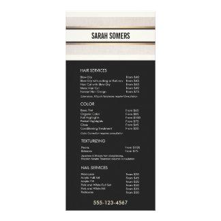 Elegant Chic Black White Price List Service Menu