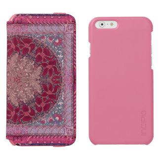 Elegant chic boho stylish floral pattern iPhone 6/6s wallet case