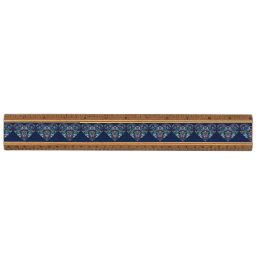 Elegant chic boho stylish floral pattern ruler