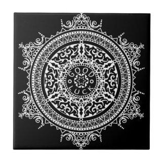 Elegant chic boho stylish floral pattern tile