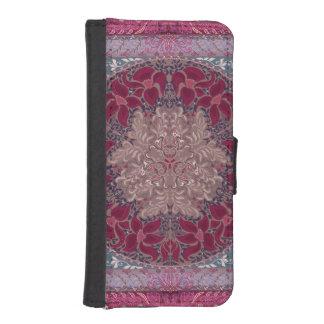 Elegant chic boho stylish floral pattern wallet phone case for iPhone SE/5/5s
