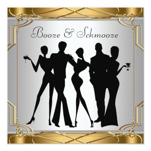 Elegant Chic Booze and Schmooze Invitations