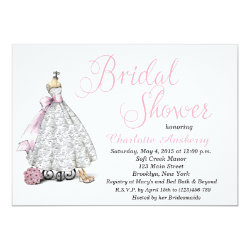 Elegant Chic Bride Bridal Shower Invitation