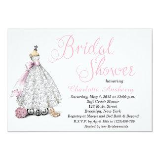 Elegant Chic Bride Bridal Shower Invitation