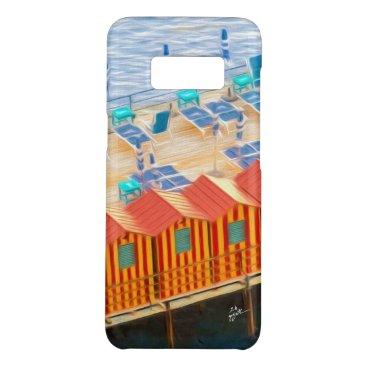 Beach Themed Elegant Chic Cabanas of Sorrento Case-Mate Samsung Galaxy S8 Case