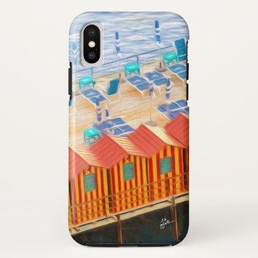 Beach Themed Elegant Chic Cabanas of Sorrento iPhone X Case