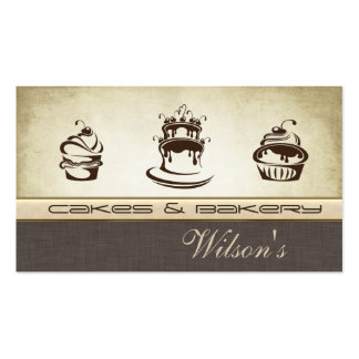 Elegant chic cake & bakery business cards