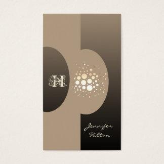 Elegant chic confetti ellipse monogram business card
