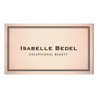 Elegant Chic Fashion and Beauty Stylist Copper Business Card
