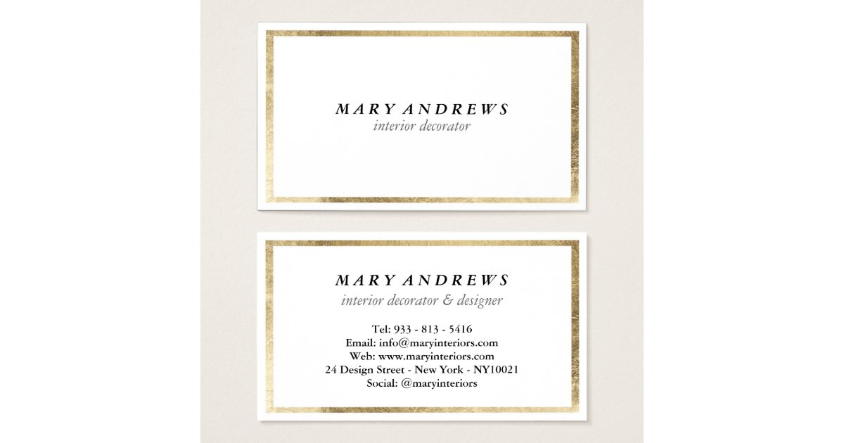 Chic Business Cards & Templates | Zazzle