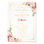 Elegant Chic Floral DIY Wedding Program Fans Front Card