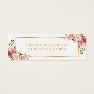 Elegant Chic Floral Gold Frame | Registry Insert