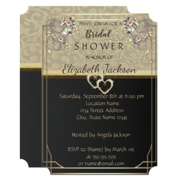 Bride Themed Elegant Chic Flowers  Bridal Shower Card