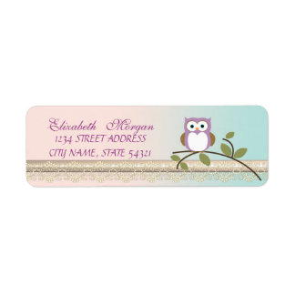 Elegant  Chic Girly Cute,Owl Label