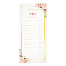 Elegant Chic Gold Frame Floral Price List Menu