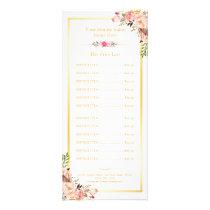 Elegant Chic Gold Frame Floral Price List Menu