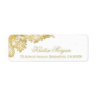 Elegant Chic Gold Lace Pattern Label