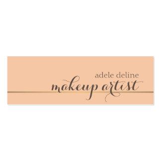 Elegant Chic Gold Line Makeup Artist Mini Business Card