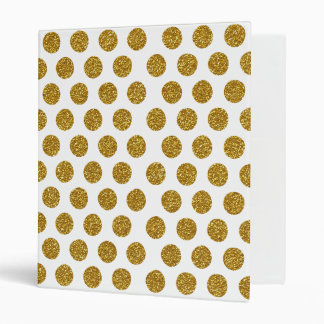 Elegant Chic Gold Polka Dots Glitter Photo Print Binder