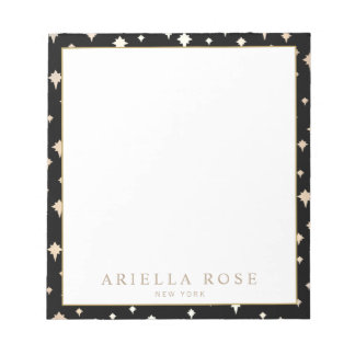 Elegant Chic Gold Stars Pattern Notepad