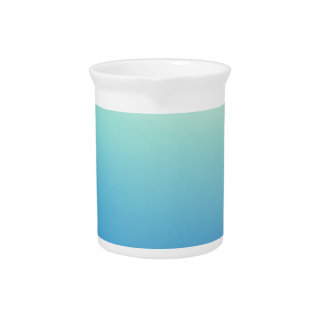 Elegant & Chic Gold Teal Blue Ombre Watercolor Beverage Pitchers