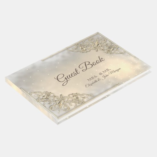 Elegant Chic Gold Wedding Guest Book