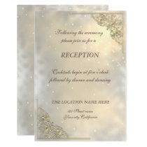 Elegant Chic Gold Wedding Reception Invitation