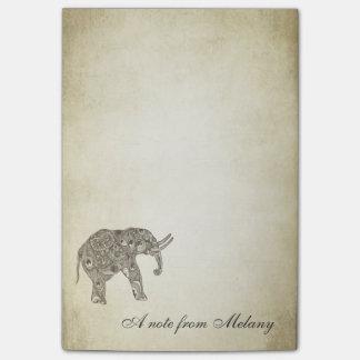 Elegant chic lady elephant vintage post-it® notes