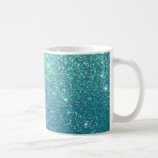 Elegant  chic luxury contemporary glittery coffee mug