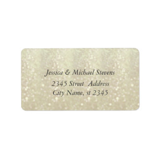 Elegant  chic luxury contemporary glittery address label