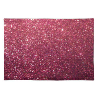 Elegant  chic luxury contemporary glittery placemats