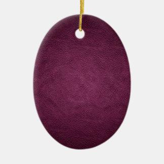 Elegant chic luxury contemporary  leather christmas tree ornament