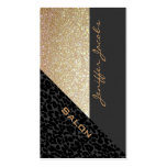 Elegant chic luxury contemporary leopard glittery Double-Sided standard business cards (Pack of 100)
