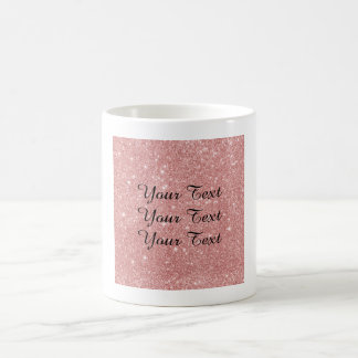 Elegant Chic Luxury Faux Glitter Rose Gold Coffee Mug